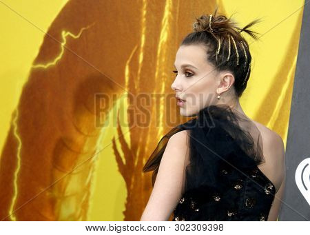 Millie Bobby Brown at the Los Angeles premiere of 'Godzilla: King Of The Monsters' held at the TCL Chinese Theatre in Hollywood, USA on May 18, 2019.