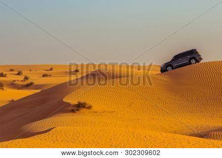 Jeep Safari On Sand Dunes In Dubai Desert