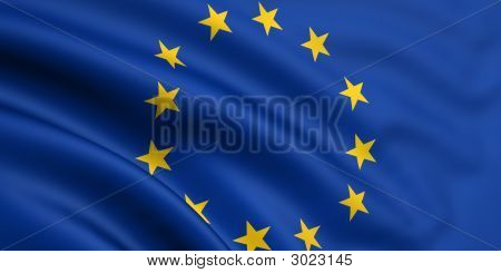 Flag Of The Eu