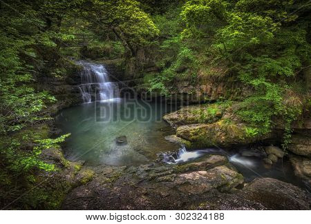 The Sychryd Cascades, (sgydau Sychryd In Welsh) A Set Of Waterfalls In The Area Called Waterfall Cou