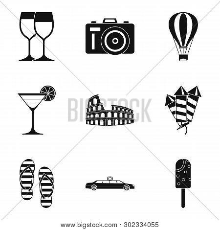 Wedding Ceremony Icons Set. Simple Set Of 9 Wedding Ceremony Icons For Web Isolated On White Backgro