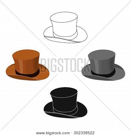 3d4c0d5d5 Top Hat Icon Cartoon Vector & Photo (Free Trial) | Bigstock