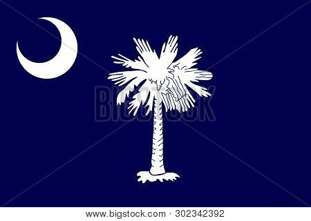 South Carolina Vector Flag. Vector Illustration. United States Of America.