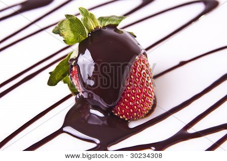 Decadent Strawberry Chocolate Dessert