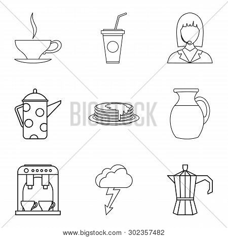 Tea Ceremony Icons Set. Outline Set Of 9 Tea Ceremony Icons For Web Isolated On White Background