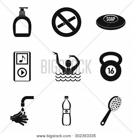 Occupational Health Icons Set. Simple Set Of 9 Occupational Health Icons For Web Isolated On White B