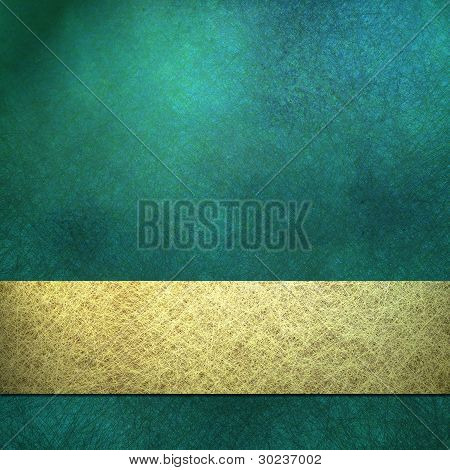 Blue Background With Gold Ribbon