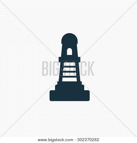 Black Lighthouse, Pharos Icon. Vector Concept Illustration For Design. - Vector