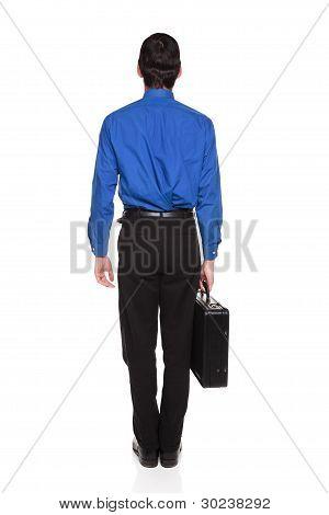 Carrying Briefcase - Caucasian Businessman