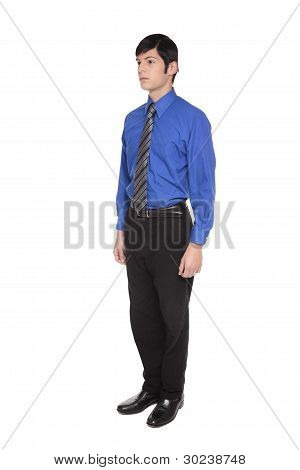 Caucasian Businessman Standing With Arms At Sides Front View