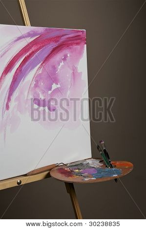 A Canvas With Palette.