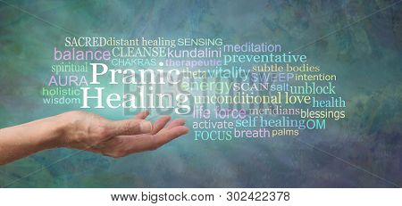 Your Body Is Designed To Self Heal - Try Pranic Healing - Female Hand With Open Palm And The Words P