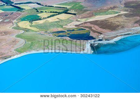 Tekapo glacial lake