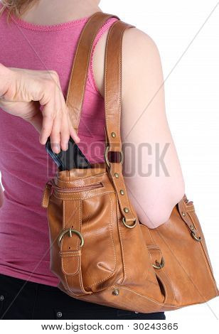 Pickpocketing A Mobile Out Of A Handbag