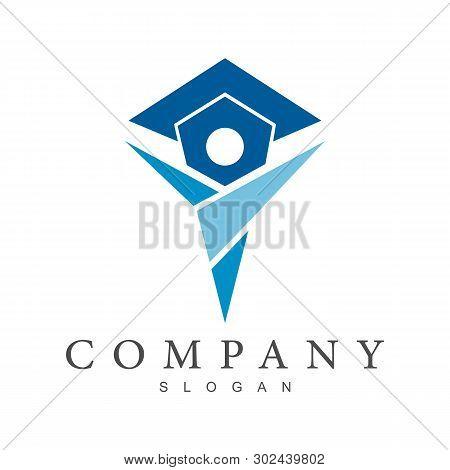 Simple Flat Logo Design For Education,university,graduate,college,campus,and School