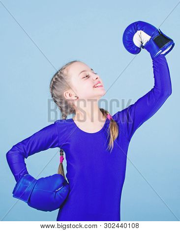 Boxer Child In Boxing Gloves. Rise Of Women Boxers. Female Boxer Change Attitudes Within Sport. Free