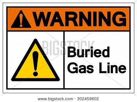 Warning Buried Gas Line Symbol Sign , Vector Illustration, Isolate On White Background Label. Eps10