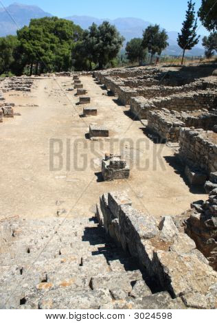 Phaistos Agora From The Steps