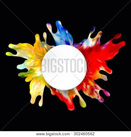 Colorful Abstract Splash Design Vector Illustration Eps10