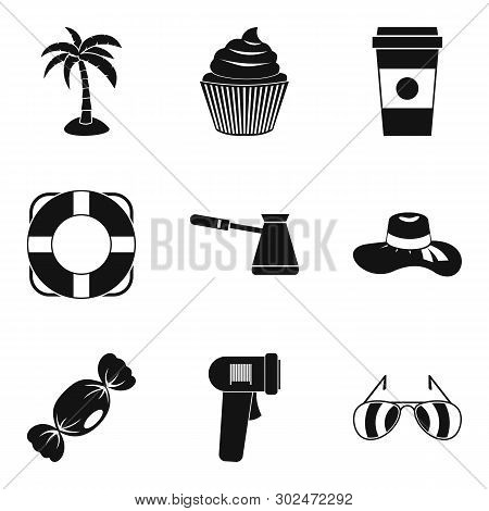 Creamer Icons Set. Simple Set Of 9 Creamer Icons For Web Isolated On White Background