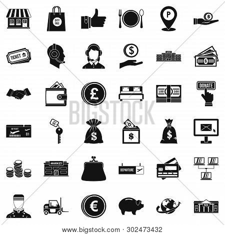 Incentive Icons Set. Simple Set Of 36 Incentive Icons For Web Isolated On White Background