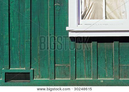 Window Corner Old Green House