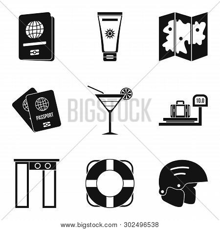 Hiatus Icons Set. Simple Set Of 9 Hiatus Icons For Web Isolated On White Background