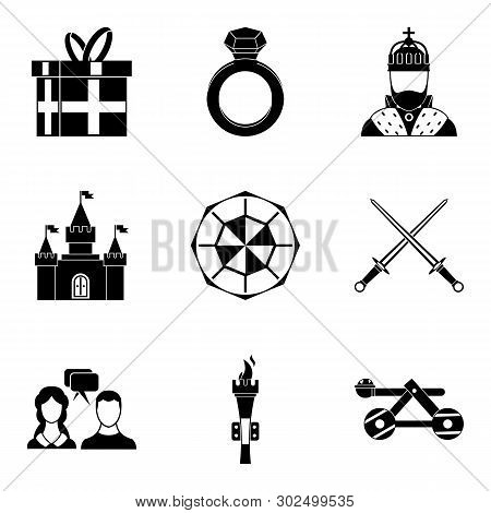 Fondness Icons Set. Simple Set Of 9 Fondness Icons For Web Isolated On White Background