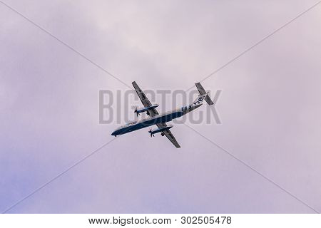 Southampton, England - September 18, 2016: Flybe, Is A British Airline Based In Exeter, England. Fly