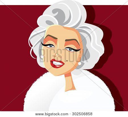 N.y.,u.s. May 20, 2019, Marilyn Monroe Vector Caricature
