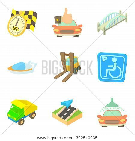 Accompany Icons Set. Cartoon Set Of 9 Accompany Icons For Web Isolated On White Background