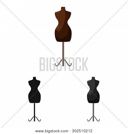 Vector design of mannequin and tailor sign. Collection of mannequin and manikin stock symbol for web. poster