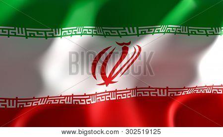 immagine 3d rendering di una bandiera dell' iran