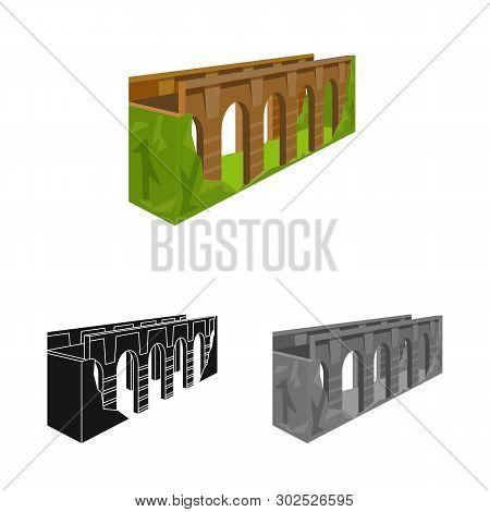 Vector Design Of Bridge And Relocation Logo. Collection Of Bridge And Column Vector Icon For Stock.