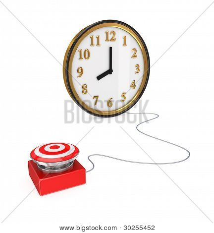 Big red button and watch
