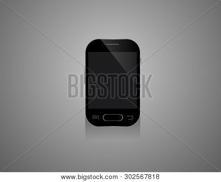 Vmobile Smartphones Mock-up In Black ColorsMobile, Vector, Screen, Black, Tablet, Cellular, Contrap