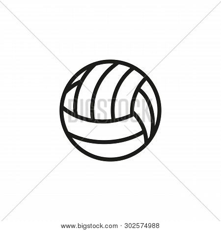 Volleyball Line Icon. Ball, Sphere, Beach. Sport Concept. Vector Illustration Can Be Used For Topics