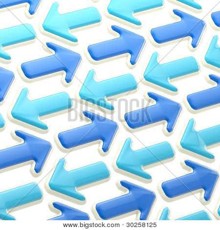 Abstract background made of pointers and arrows