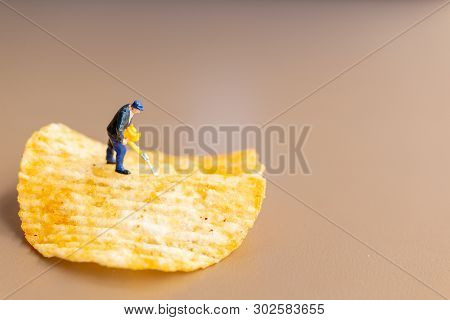 Worker Are Working With Potato Chips