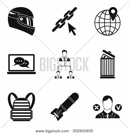 Conquest Icons Set. Simple Set Of 9 Conquest Icons For Web Isolated On White Background