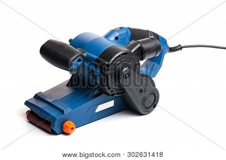 strip sander tool  isolated on white background- Image poster
