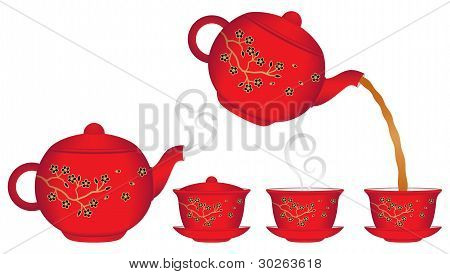 Chinese Teapot and Teacup Collection