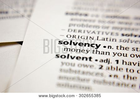 Word Or Phrase Solvency In A Dictionary.