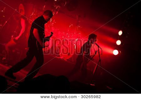 LISBON, PORTUGAL - FEBRUARY 15 - Benighted Soul Performs Live as support band for Tarja Turunen