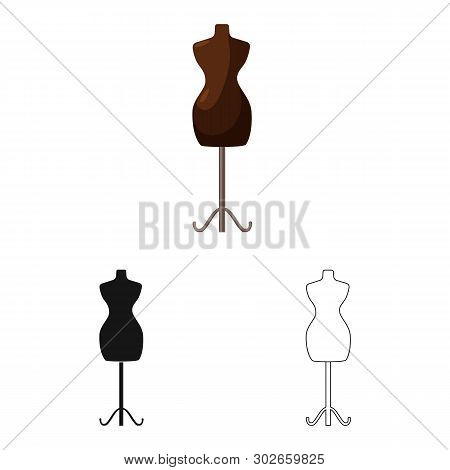 Vector illustration of mannequin and tailor logo. Set of mannequin and manikin stock vector illustration. poster