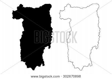 Valcea County (administrative Divisions Of Romania, Sud-vest Oltenia Development Region) Map Vector