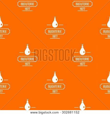 Bijouterie Pattern Vector Orange For Any Web Design Best