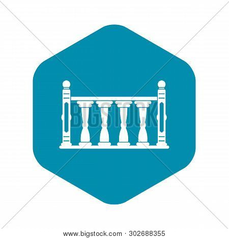 Balustrade Icon. Simple Illustration Of Balustrade Vector Icon For Web
