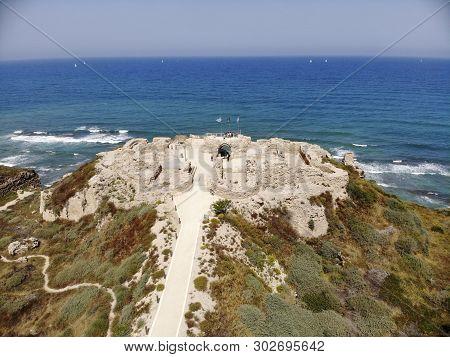 Apollonia National Park Is Located On Cape Kurkar (limestone Sandstone) On The Sea Coast North Of He