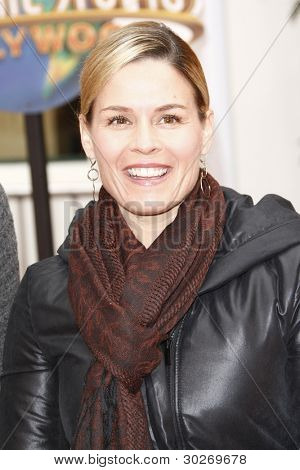 LOS ANGELES, CA - FEB 19: Cat Cora at the 'Dr. Suess' The Lorax' premiere at Universal Studios Hollywood on February 19, 2012 in Los Angeles, California